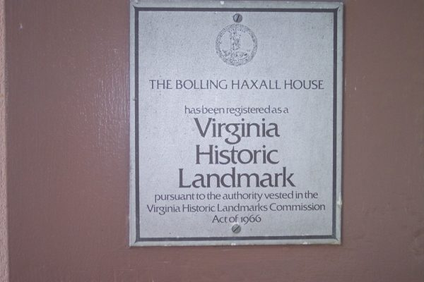 The Bolling Haxall House, Virginia Historic Landmark